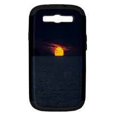 Sunset Ocean Azores Portugal Sol Samsung Galaxy S III Hardshell Case (PC+Silicone)