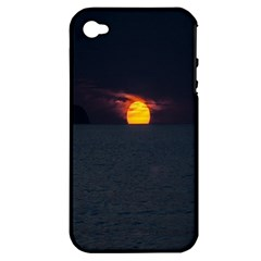 Sunset Ocean Azores Portugal Sol Apple iPhone 4/4S Hardshell Case (PC+Silicone)