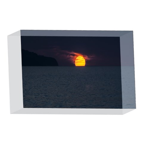 Sunset Ocean Azores Portugal Sol 4 x 6  Acrylic Photo Blocks