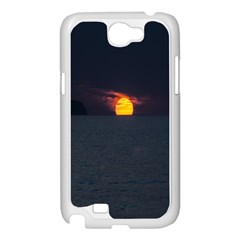 Sunset Ocean Azores Portugal Sol Samsung Galaxy Note 2 Case (White)