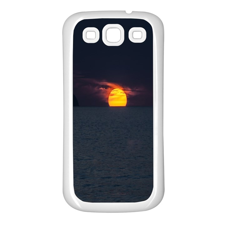 Sunset Ocean Azores Portugal Sol Samsung Galaxy S3 Back Case (White)