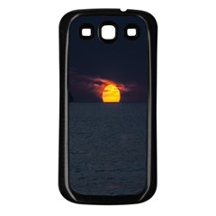 Sunset Ocean Azores Portugal Sol Samsung Galaxy S3 Back Case (Black)