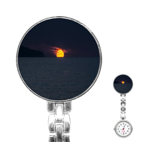 Sunset Ocean Azores Portugal Sol Stainless Steel Nurses Watch
