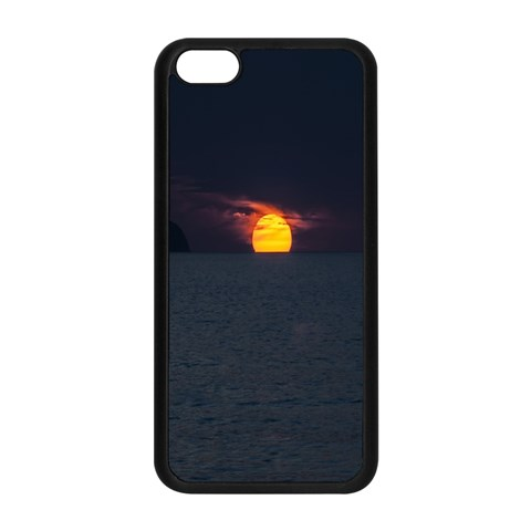Sunset Ocean Azores Portugal Sol Apple iPhone 5C Seamless Case (Black)