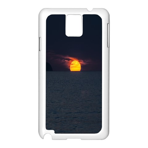 Sunset Ocean Azores Portugal Sol Samsung Galaxy Note 3 N9005 Case (White)