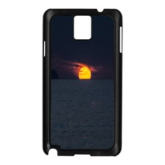 Sunset Ocean Azores Portugal Sol Samsung Galaxy Note 3 N9005 Case (Black)