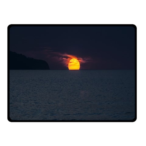 Sunset Ocean Azores Portugal Sol Double Sided Fleece Blanket (Small)