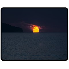 Sunset Ocean Azores Portugal Sol Double Sided Fleece Blanket (Medium)
