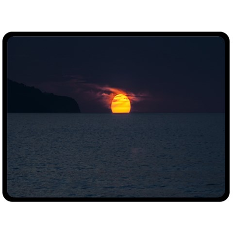 Sunset Ocean Azores Portugal Sol Double Sided Fleece Blanket (Large)