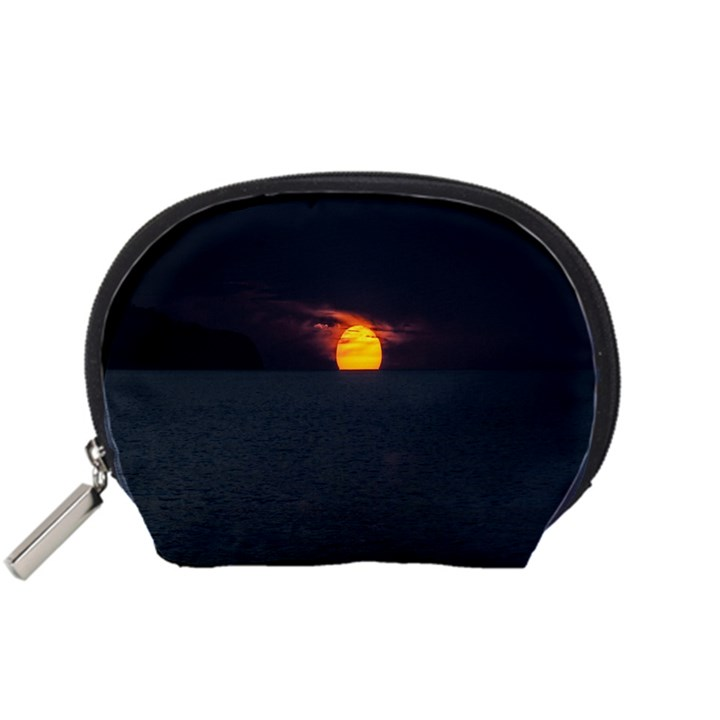 Sunset Ocean Azores Portugal Sol Accessory Pouches (Small)