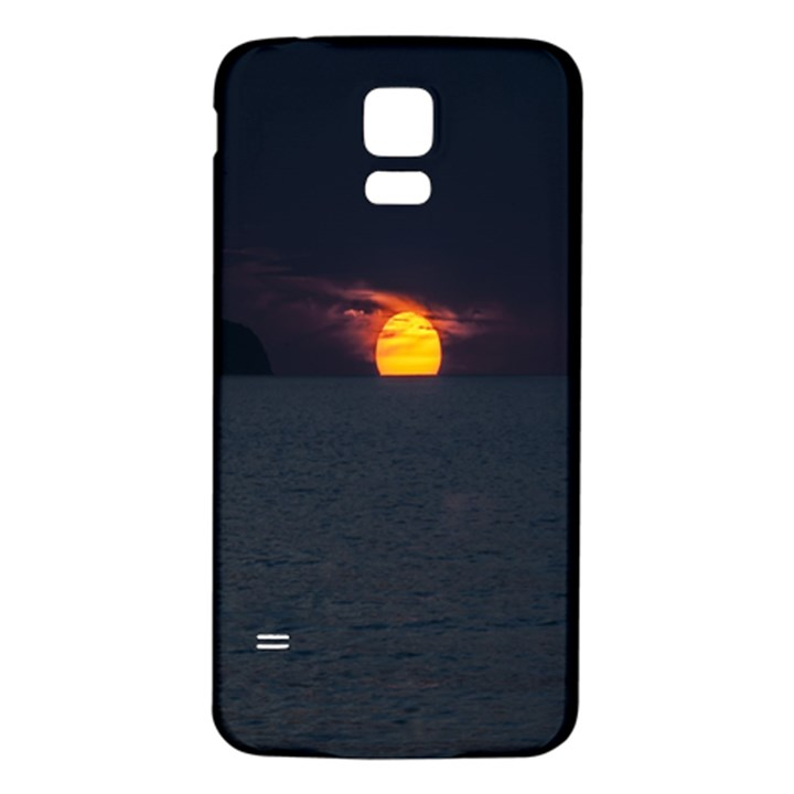 Sunset Ocean Azores Portugal Sol Samsung Galaxy S5 Back Case (White)