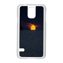 Sunset Ocean Azores Portugal Sol Samsung Galaxy S5 Case (White)