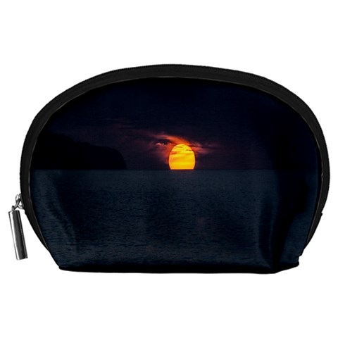 Sunset Ocean Azores Portugal Sol Accessory Pouches (Large)