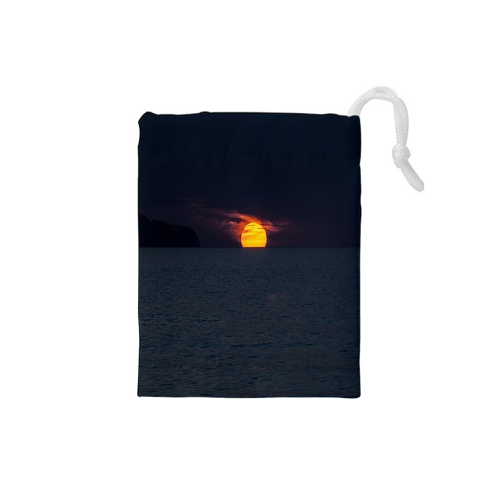 Sunset Ocean Azores Portugal Sol Drawstring Pouches (Small)