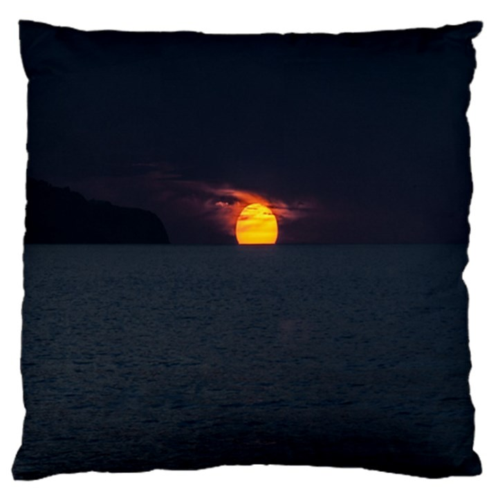 Sunset Ocean Azores Portugal Sol Standard Flano Cushion Case (Two Sides)