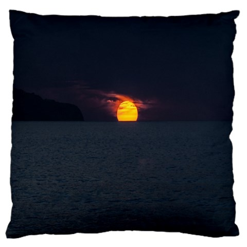 Sunset Ocean Azores Portugal Sol Large Flano Cushion Case (One Side)
