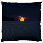 Sunset Ocean Azores Portugal Sol Large Flano Cushion Case (One Side) Front
