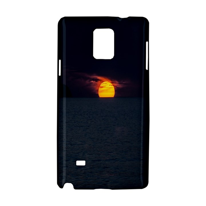 Sunset Ocean Azores Portugal Sol Samsung Galaxy Note 4 Hardshell Case