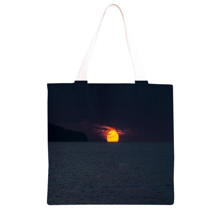 Sunset Ocean Azores Portugal Sol Grocery Light Tote Bag