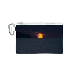Sunset Ocean Azores Portugal Sol Canvas Cosmetic Bag (S)