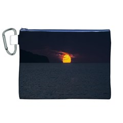 Sunset Ocean Azores Portugal Sol Canvas Cosmetic Bag (XL)