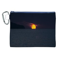 Sunset Ocean Azores Portugal Sol Canvas Cosmetic Bag (XXL)