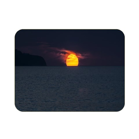 Sunset Ocean Azores Portugal Sol Double Sided Flano Blanket (Mini)