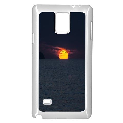Sunset Ocean Azores Portugal Sol Samsung Galaxy Note 4 Case (White)