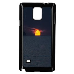 Sunset Ocean Azores Portugal Sol Samsung Galaxy Note 4 Case (Black)
