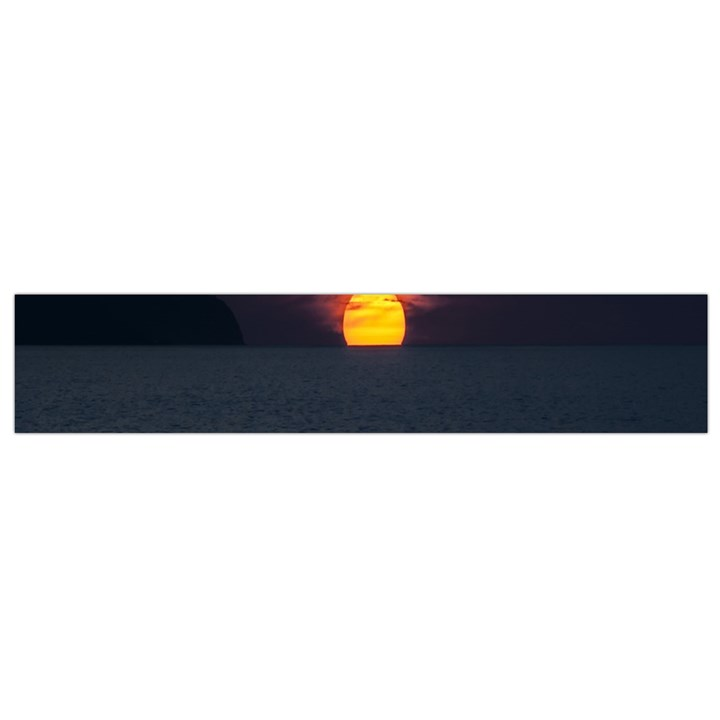 Sunset Ocean Azores Portugal Sol Flano Scarf (Small)