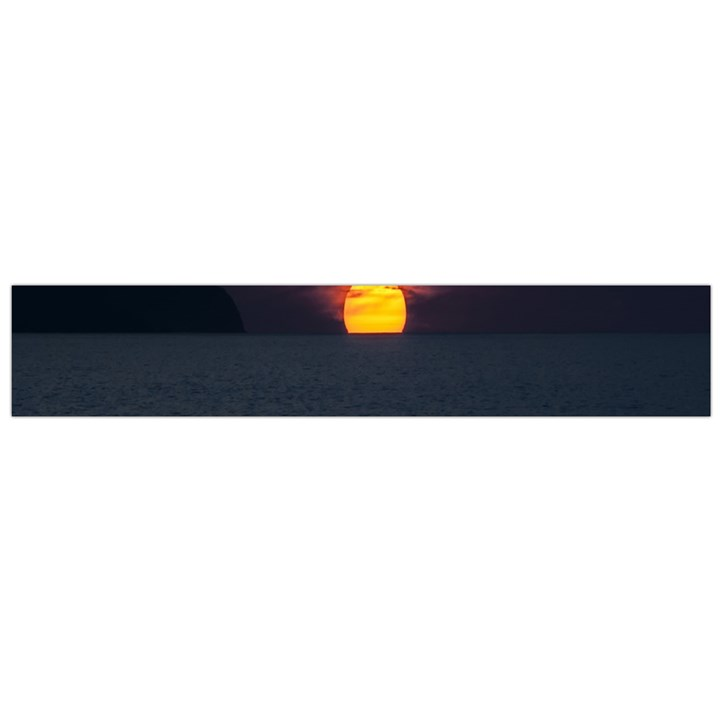 Sunset Ocean Azores Portugal Sol Flano Scarf (Large)