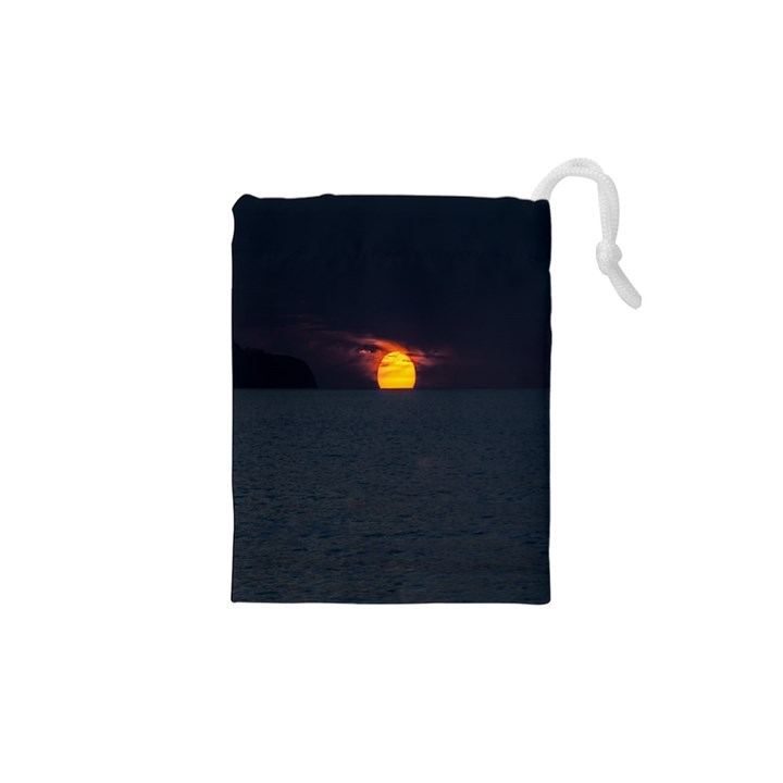 Sunset Ocean Azores Portugal Sol Drawstring Pouches (XS)
