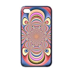 Pastel Shades Ornamental Flower Apple iPhone 4 Case (Black)