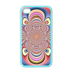 Pastel Shades Ornamental Flower Apple Iphone 4 Case (color)