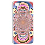 Pastel Shades Ornamental Flower Apple iPhone 4/4s Seamless Case (White) Front