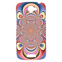 Pastel Shades Ornamental Flower HTC One S Hardshell Case