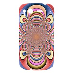 Pastel Shades Ornamental Flower HTC Desire S Hardshell Case