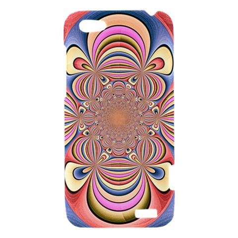 Pastel Shades Ornamental Flower HTC One V Hardshell Case