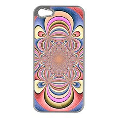 Pastel Shades Ornamental Flower Apple iPhone 5 Case (Silver)