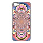 Pastel Shades Ornamental Flower Apple iPhone 5 Case (Silver) Front