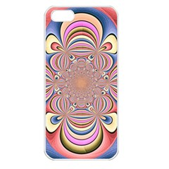 Pastel Shades Ornamental Flower Apple Iphone 5 Seamless Case (white)