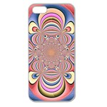 Pastel Shades Ornamental Flower Apple Seamless iPhone 5 Case (Clear) Front