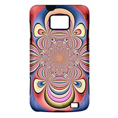 Pastel Shades Ornamental Flower Samsung Galaxy S II i9100 Hardshell Case (PC+Silicone)