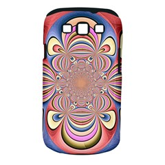 Pastel Shades Ornamental Flower Samsung Galaxy S III Classic Hardshell Case (PC+Silicone)