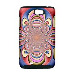 Pastel Shades Ornamental Flower Samsung Galaxy Note 2 Hardshell Case (PC+Silicone)
