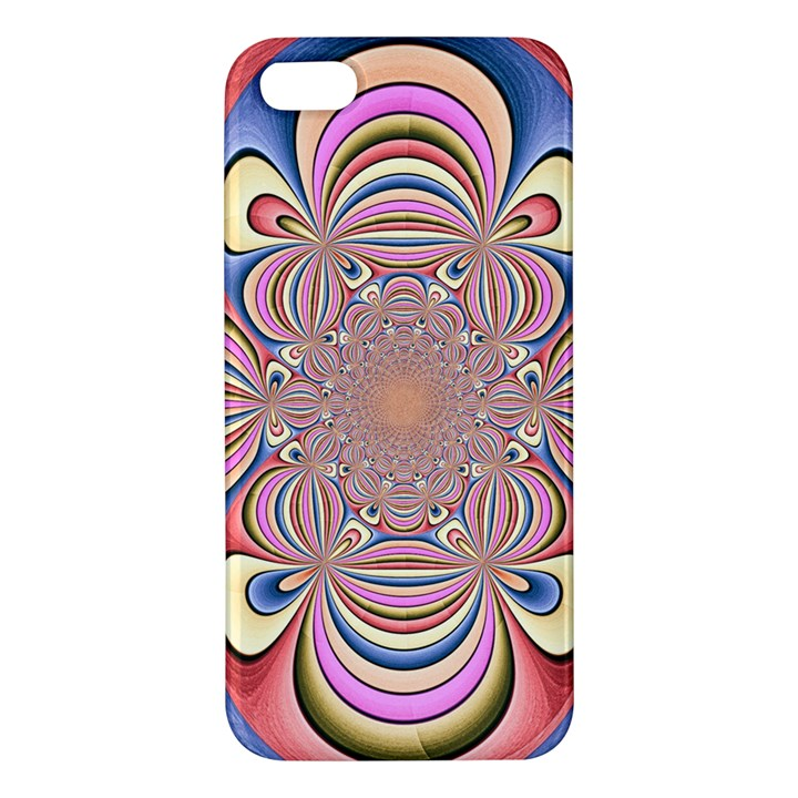 Pastel Shades Ornamental Flower Apple iPhone 5 Premium Hardshell Case