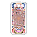 Pastel Shades Ornamental Flower Samsung Galaxy S3 Back Case (White) Front