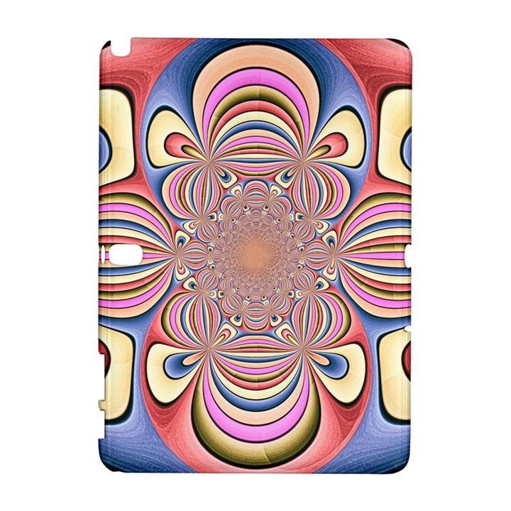 Pastel Shades Ornamental Flower Samsung Galaxy Note 10.1 (P600) Hardshell Case