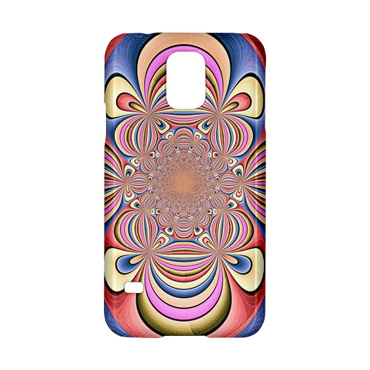 Pastel Shades Ornamental Flower Samsung Galaxy S5 Hardshell Case