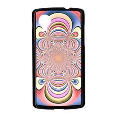Pastel Shades Ornamental Flower Nexus 5 Case (Black)